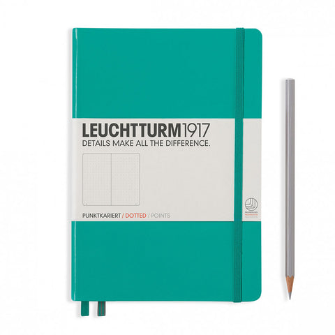 Leuchtturm1917 Hardcover A5 Medium Notebook Emerald - Dotted