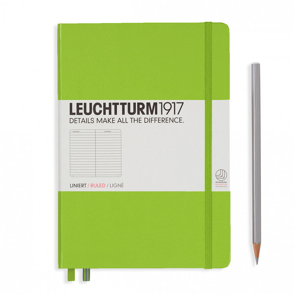 Leuchtturm1917 Hardcover A5 Medium Notebook Lime - Ruled