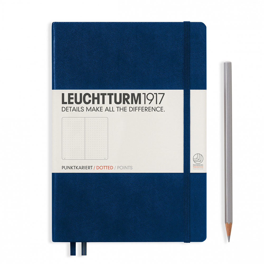 Leuchtturm1917 Hardcover A5 Medium Notebook Navy - Dotted