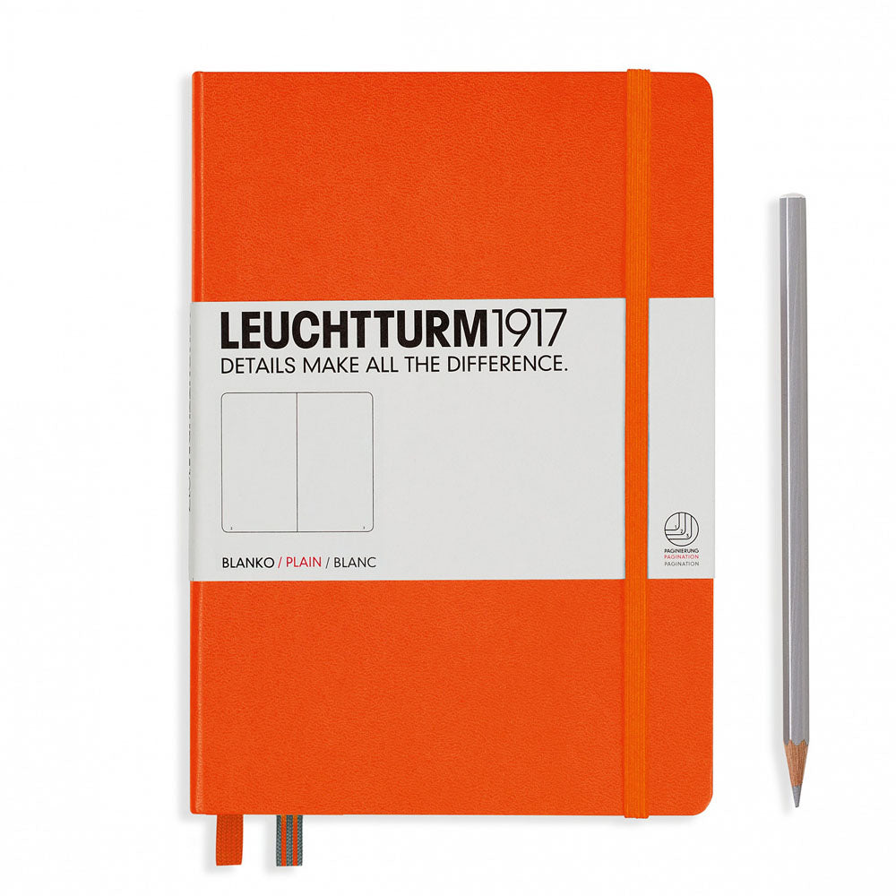 Leuchtturm1917 Hardcover A5 Medium Notebook Orange - Plain