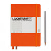 Leuchtturm1917 Hardcover A5 Medium Notebook Orange - Ruled