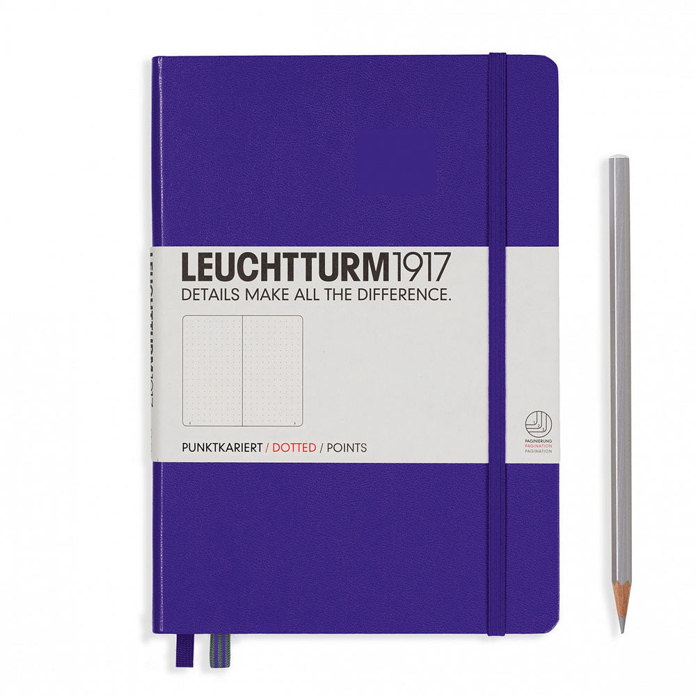 Leuchtturm1917 Hardcover A5 Medium Notebook Purple - Dotted