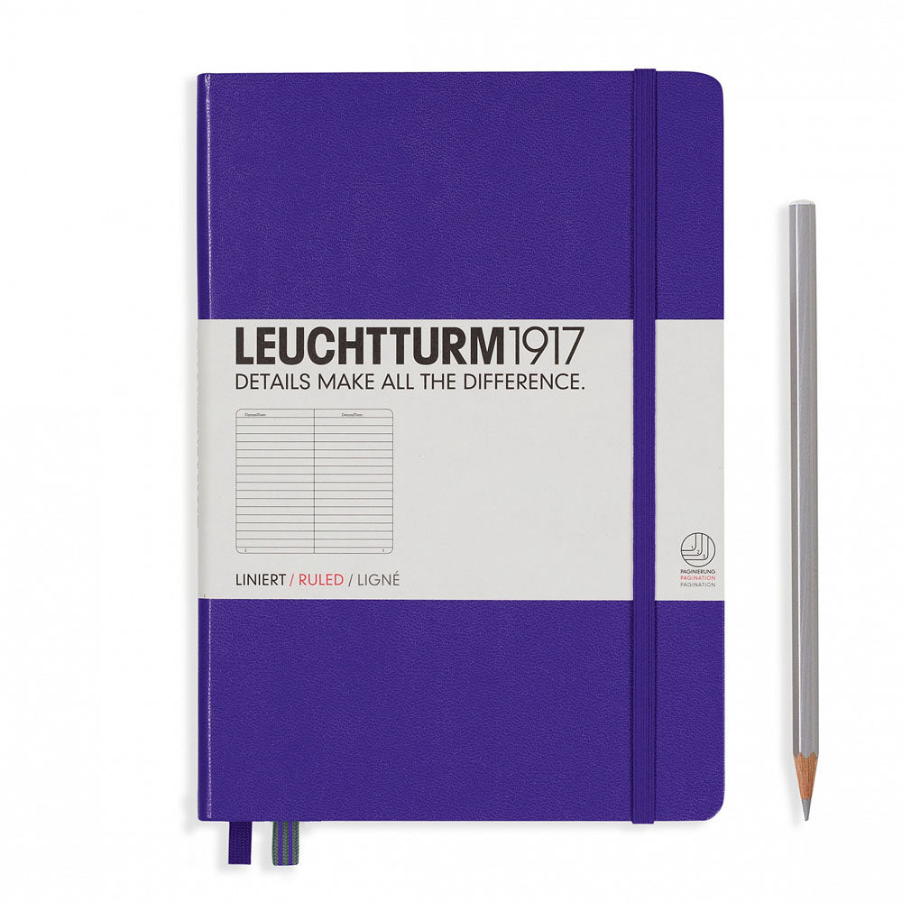 Leuchtturm1917 Hardcover A5 Medium Notebook Purple - Ruled