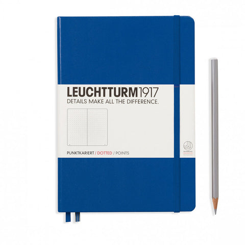 Leuchtturm1917 Hardcover A5 Medium Notebook Royal Blue - Dotted