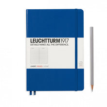 Load image into Gallery viewer, Leuchtturm1917 Hardcover A5 Medium Notebook Royal Blue - Ruled