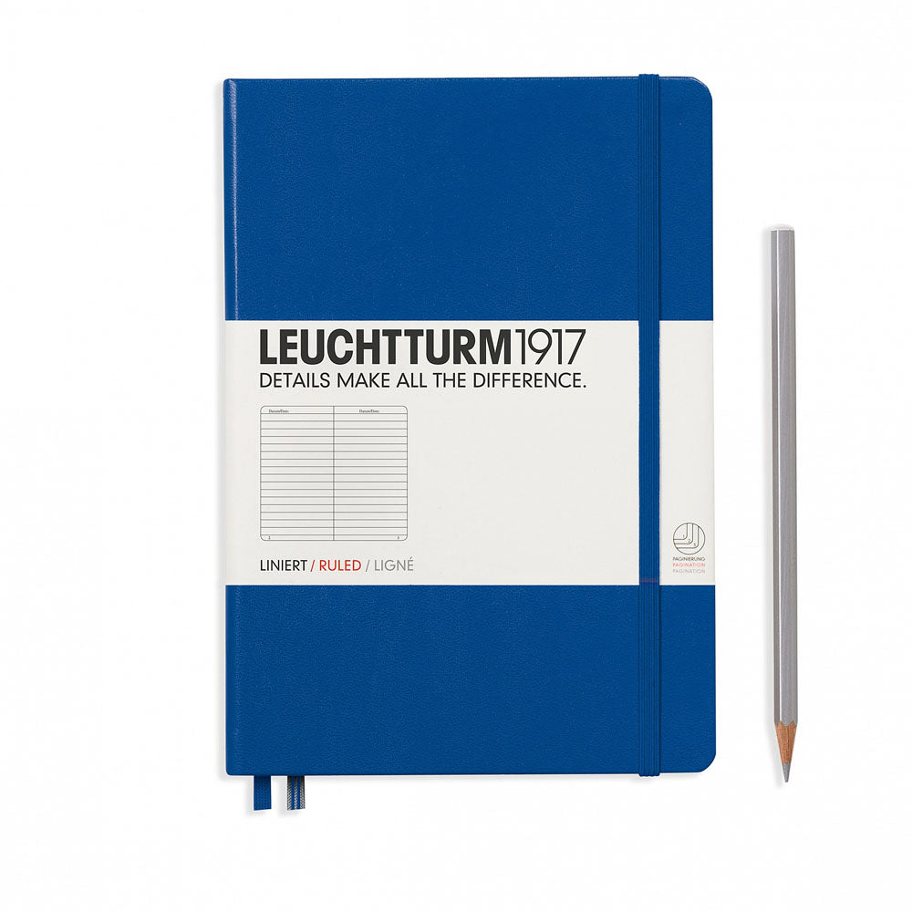 Leuchtturm1917 Hardcover A5 Medium Notebook Royal Blue - Ruled
