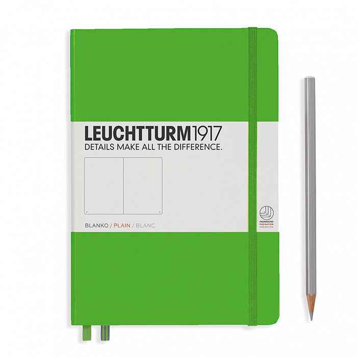 Leuchtturm1917 Hardcover A5 Medium Notebook Fresh Green - Plain