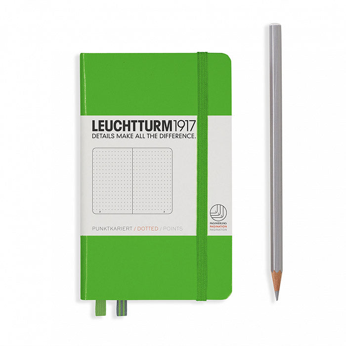 Leuchtturm1917 Hardcover A6 Pocket Notebook Fresh Green - Dotted