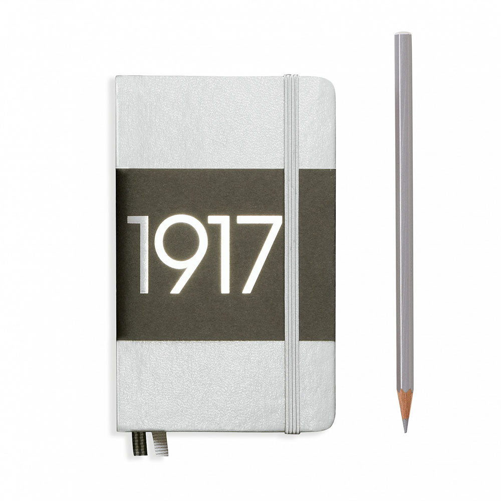 Leuchtturm1917 Metallic Edition A6 Pocket Notebook Silver - Dotted