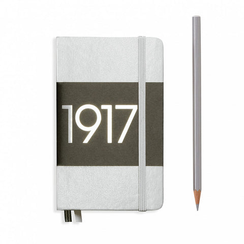 Leuchtturm1917 Metallic Edition A6 Pocket Notebook Silver - Ruled
