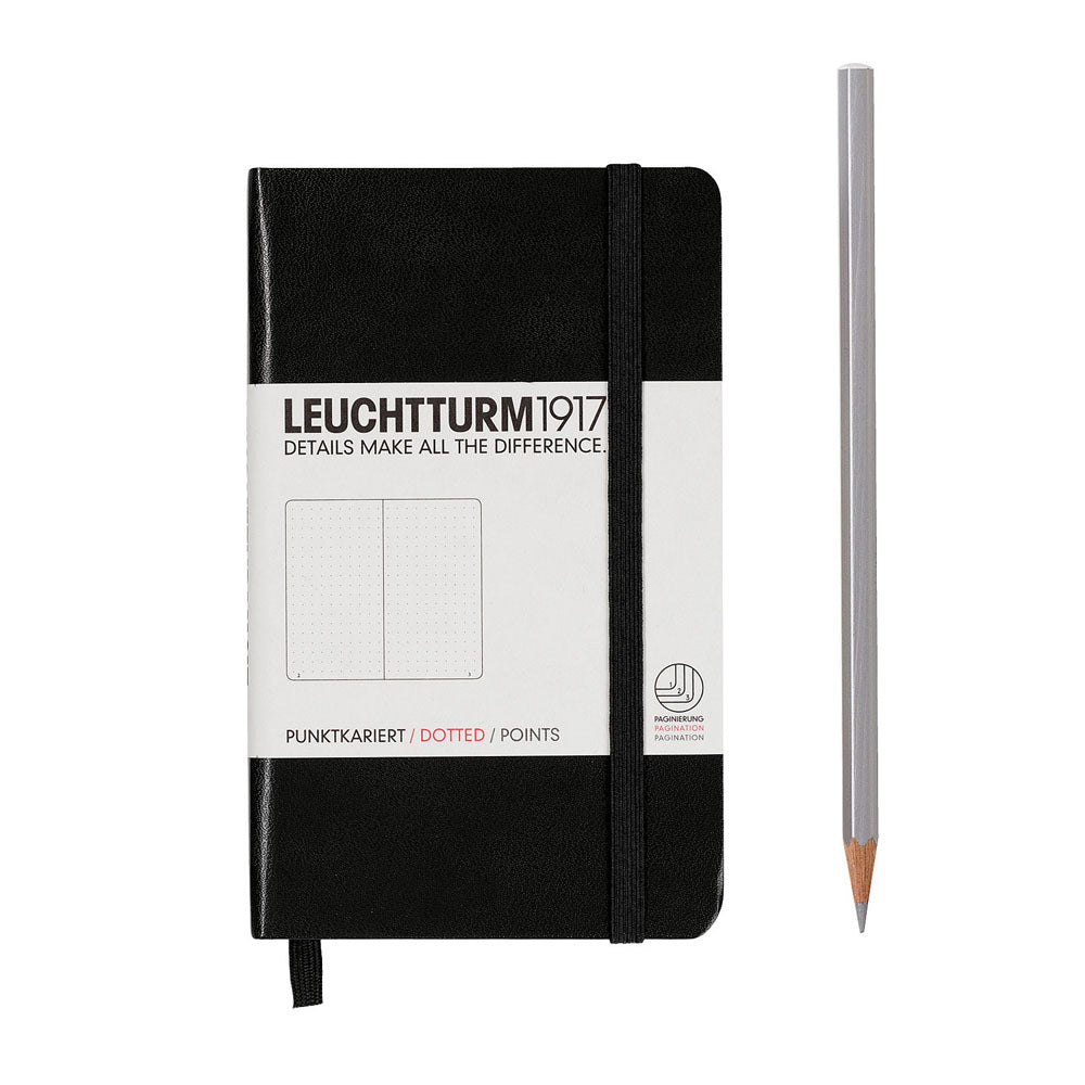 Leuchtturm1917 Hardcover A6 Pocket Notebook Black - Dotted