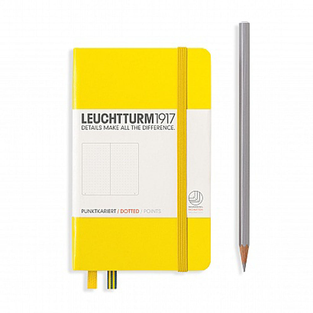 Leuchtturm1917 Hardcover A6 Pocket Notebook Lemon - Dotted