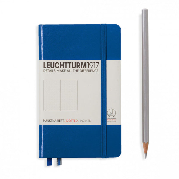 Leuchtturm1917 Hardcover A6 Pocket Notebook Royal Blue - Dotted