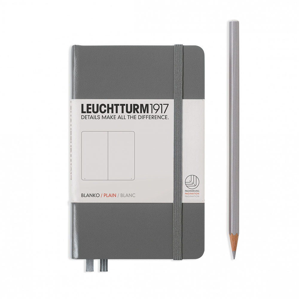 Leuchtturm1917 Hardcover A6 Pocket Notebook Anthracite - Plain