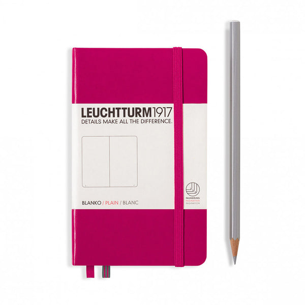 Leuchtturm1917 Hardcover A6 Pocket Notebook Berry - Plain