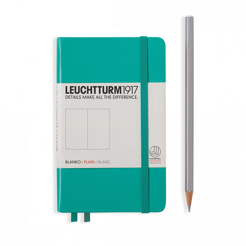 Leuchtturm1917 Hardcover A6 Pocket Notebook Emerald - Plain