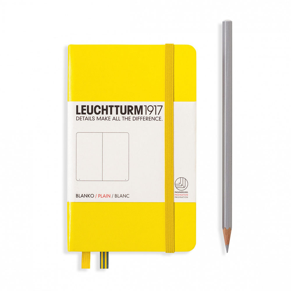 Leuchtturm1917 Hardcover A6 Pocket Notebook Lemon - Plain