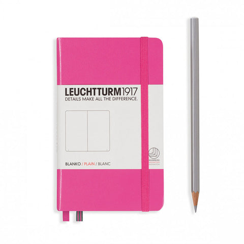 Leuchtturm1917 Hardcover A6 Pocket Notebook New Pink - Plain