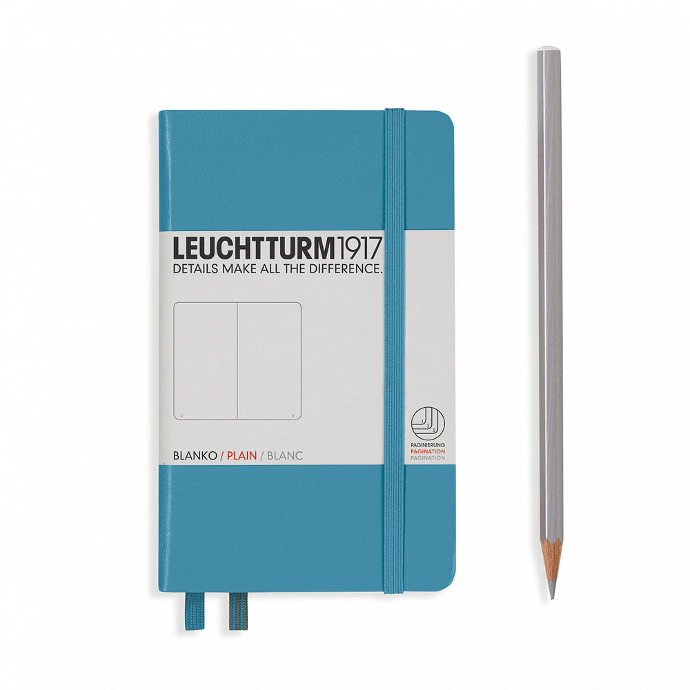 Leuchtturm1917 Hardcover A6 Pocket Notebook Nordic Blue - Ruled