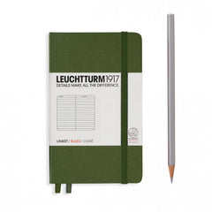 Leuchtturm1917 Hardcover A6 Pocket Notebook Army - Ruled