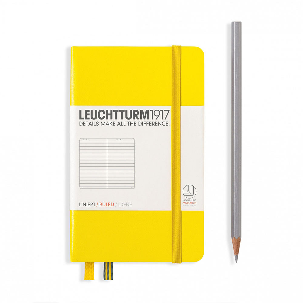 Leuchtturm1917 Hardcover A6 Pocket Notebook Lemon - Ruled