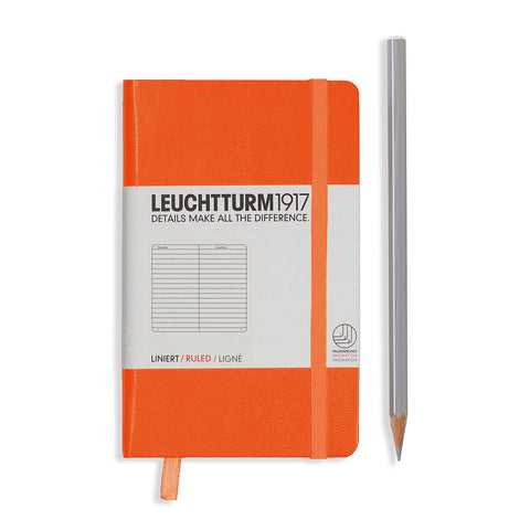 Leuchtturm1917 Hardcover A6 Pocket Notebook Orange - Ruled
