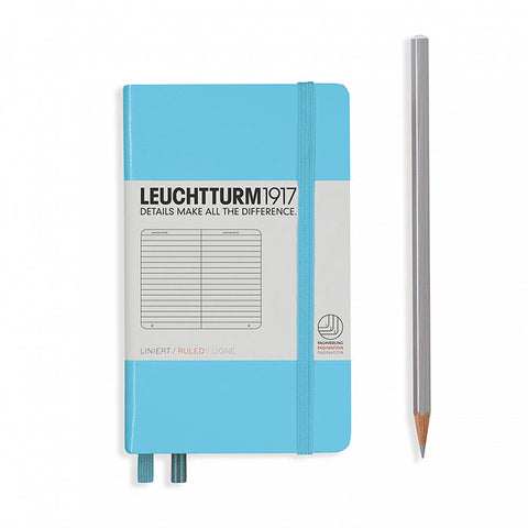Leuchtturm1917 Hardcover A6 Pocket Notebook Ice Blue - Ruled