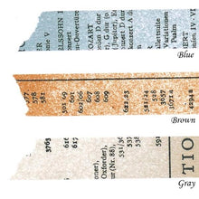 Load image into Gallery viewer, Classiky x Yoko Inoue Old Book Washi Tape - Cityluxe