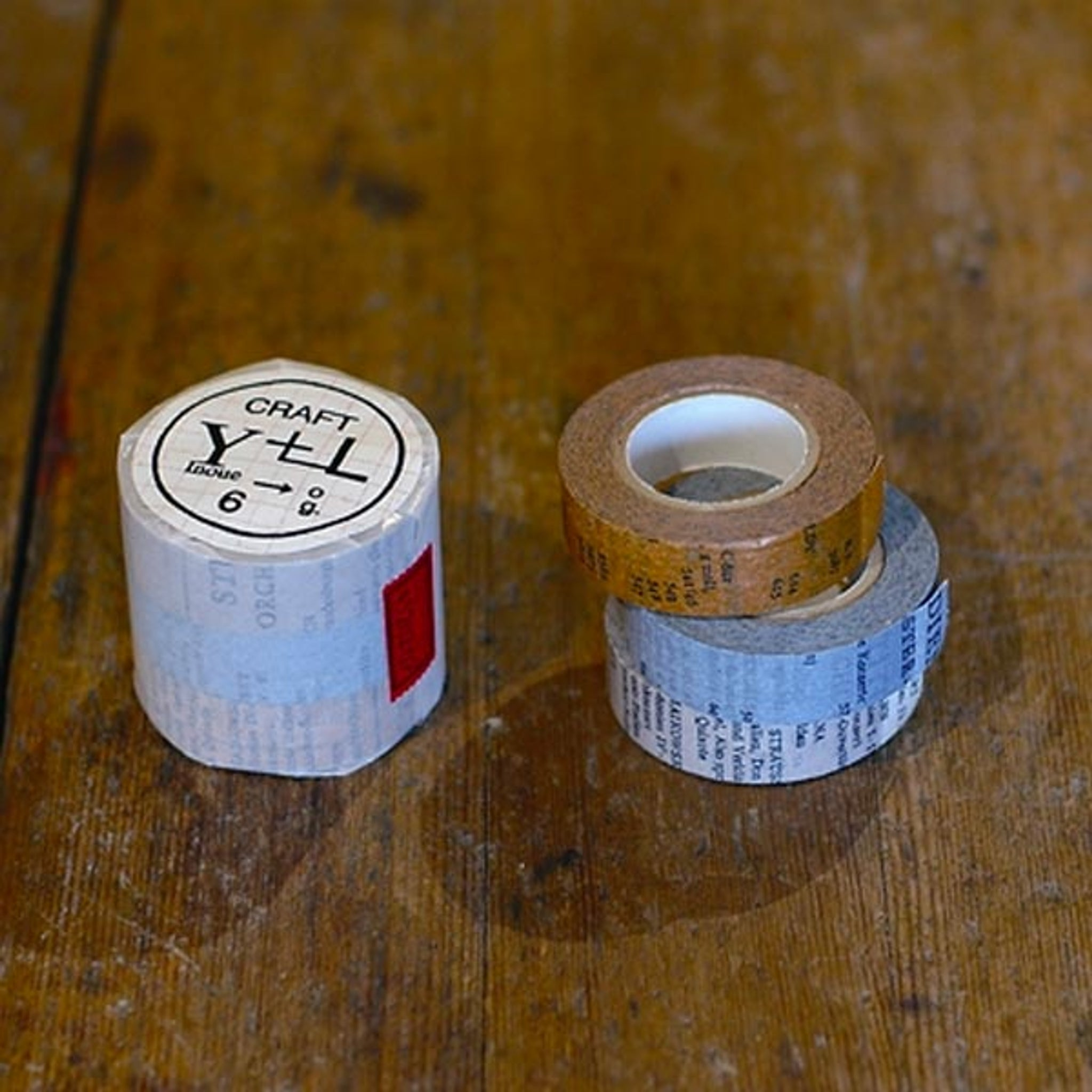 Classiky x Yoko Inoue Old Book Washi Tape Blue