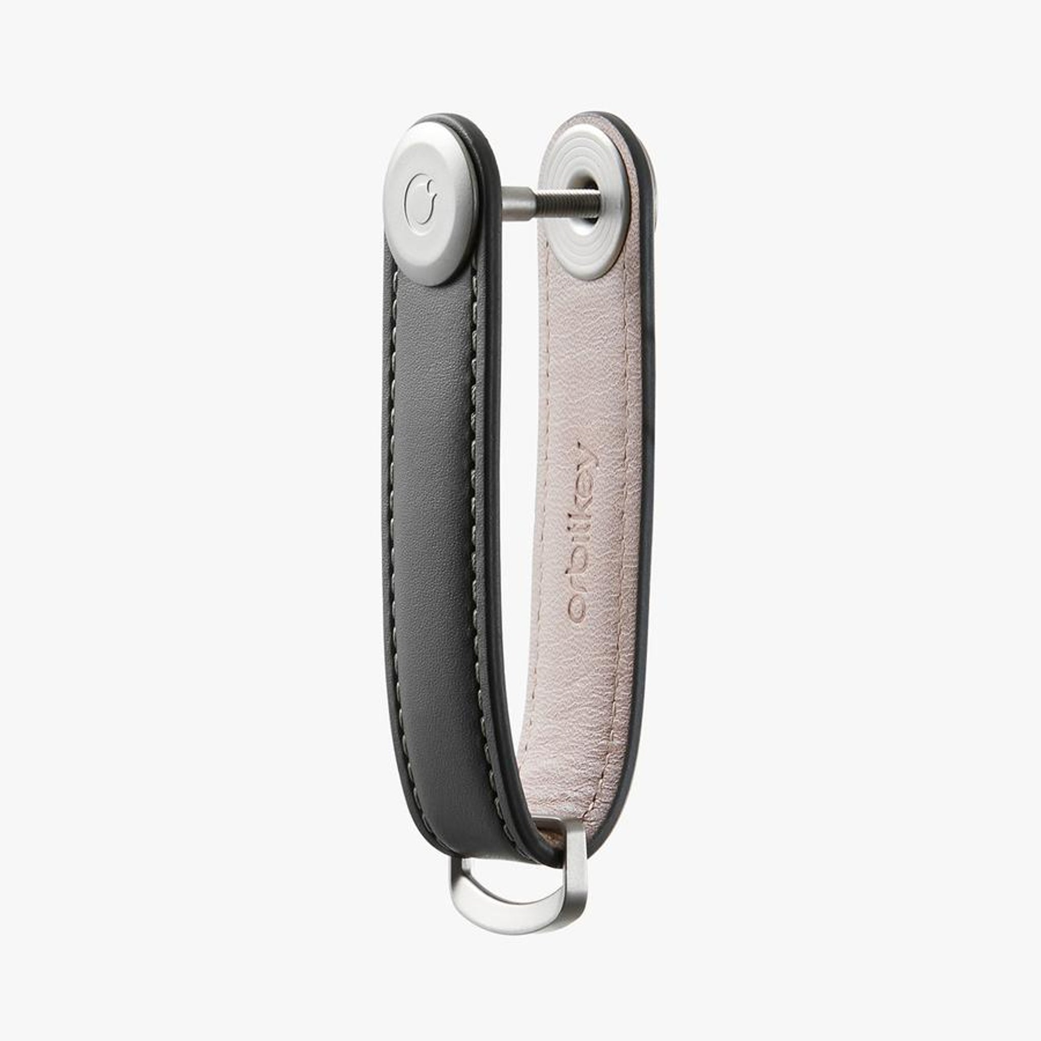 Orbitkey 2.0 Leather Charcoal with Grey Stitching