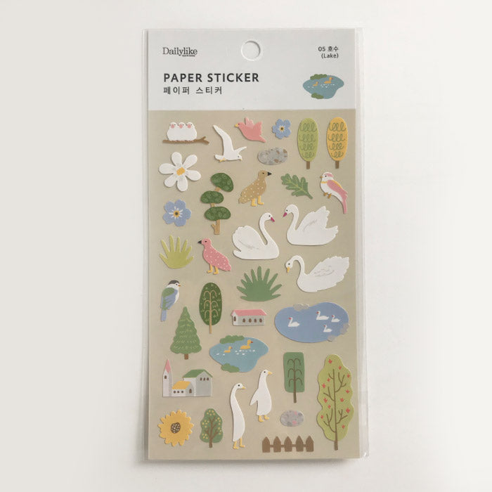 DailyLike Paper Sticker 05 Lake