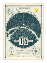Load image into Gallery viewer, Cavallini Perpetual Calendar Celestial Chart