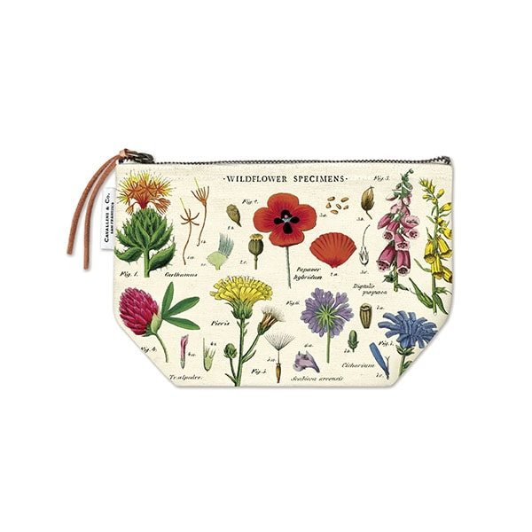 Cavallini Vintage Pouch Wildflowers