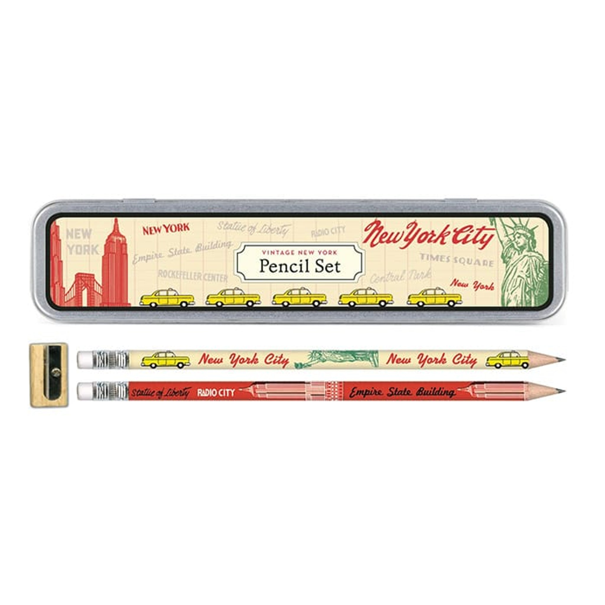 Cavallini Pencil Set Vintage New York