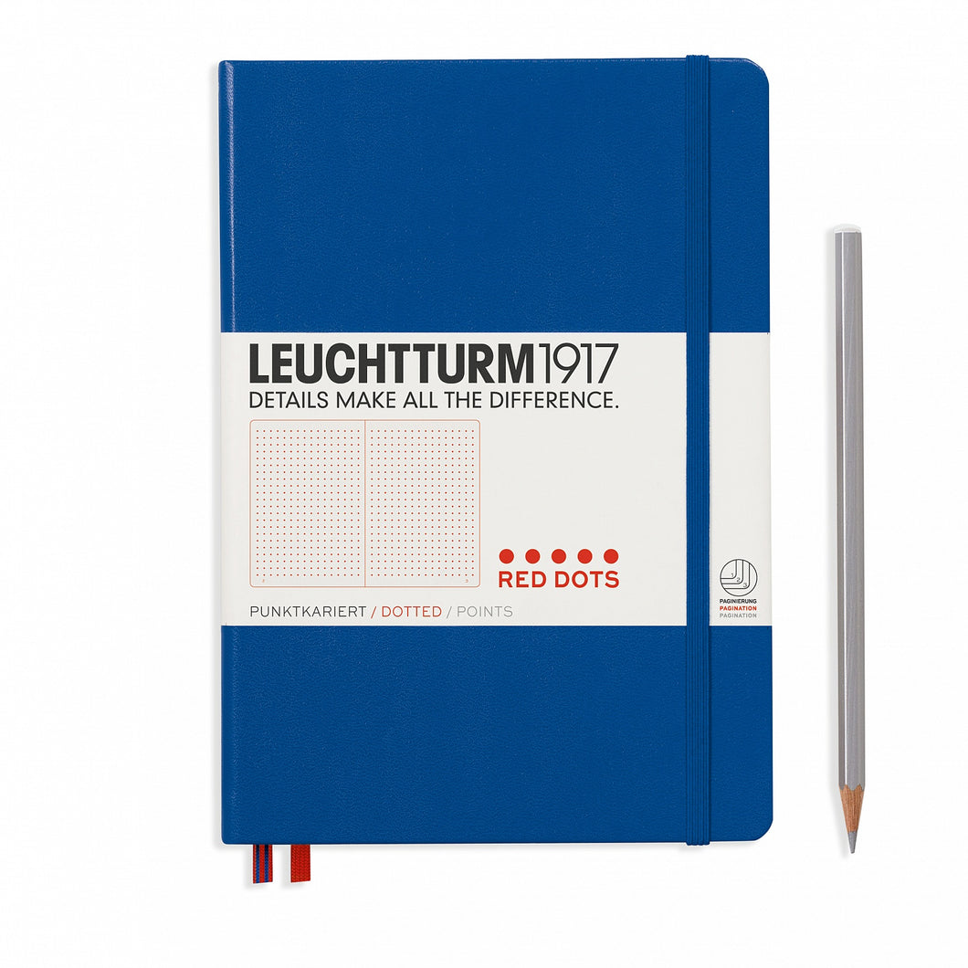 Leuchtturm1917 A5 Medium Red Dots Edition Notebook Royal Blue