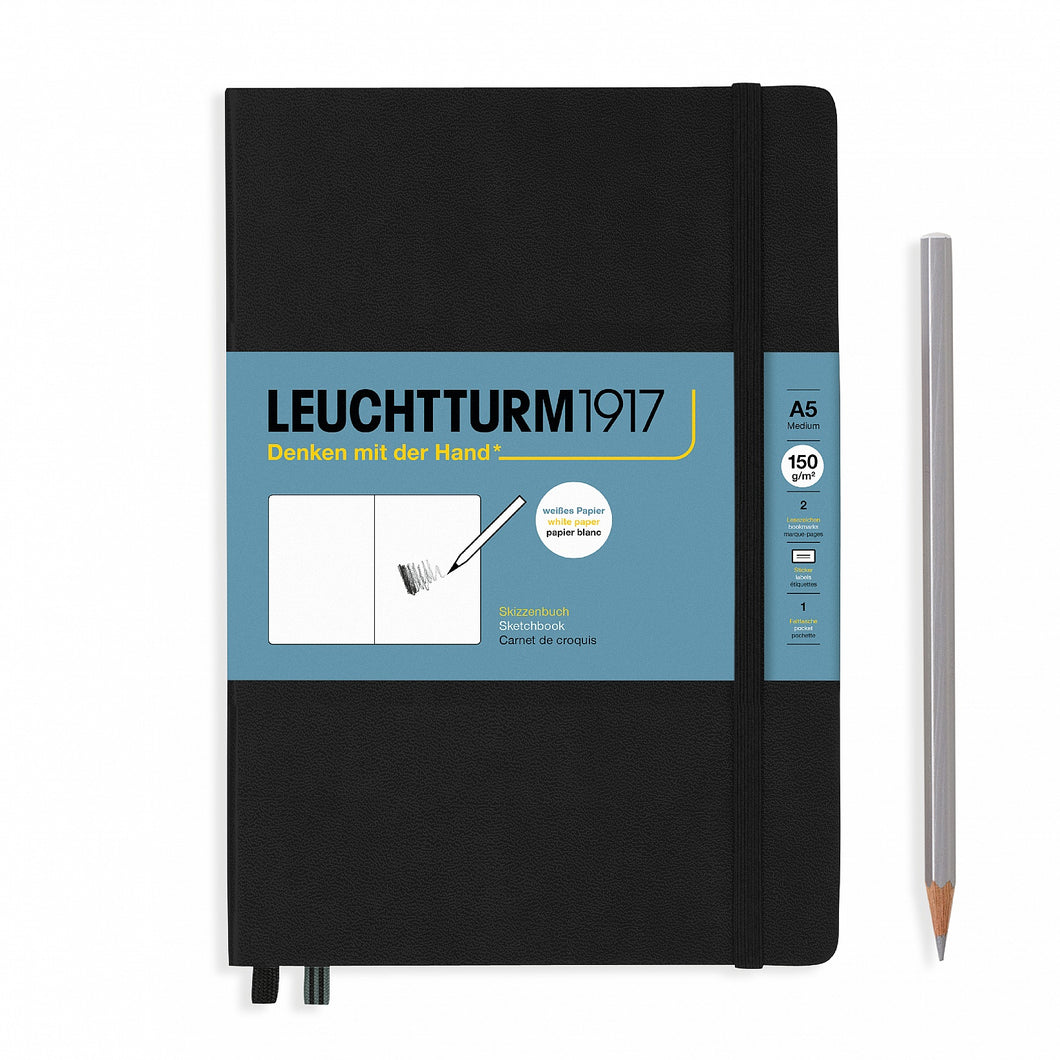 Leuchtturm1917 Hardcover A5 Medium Sketchbook Black