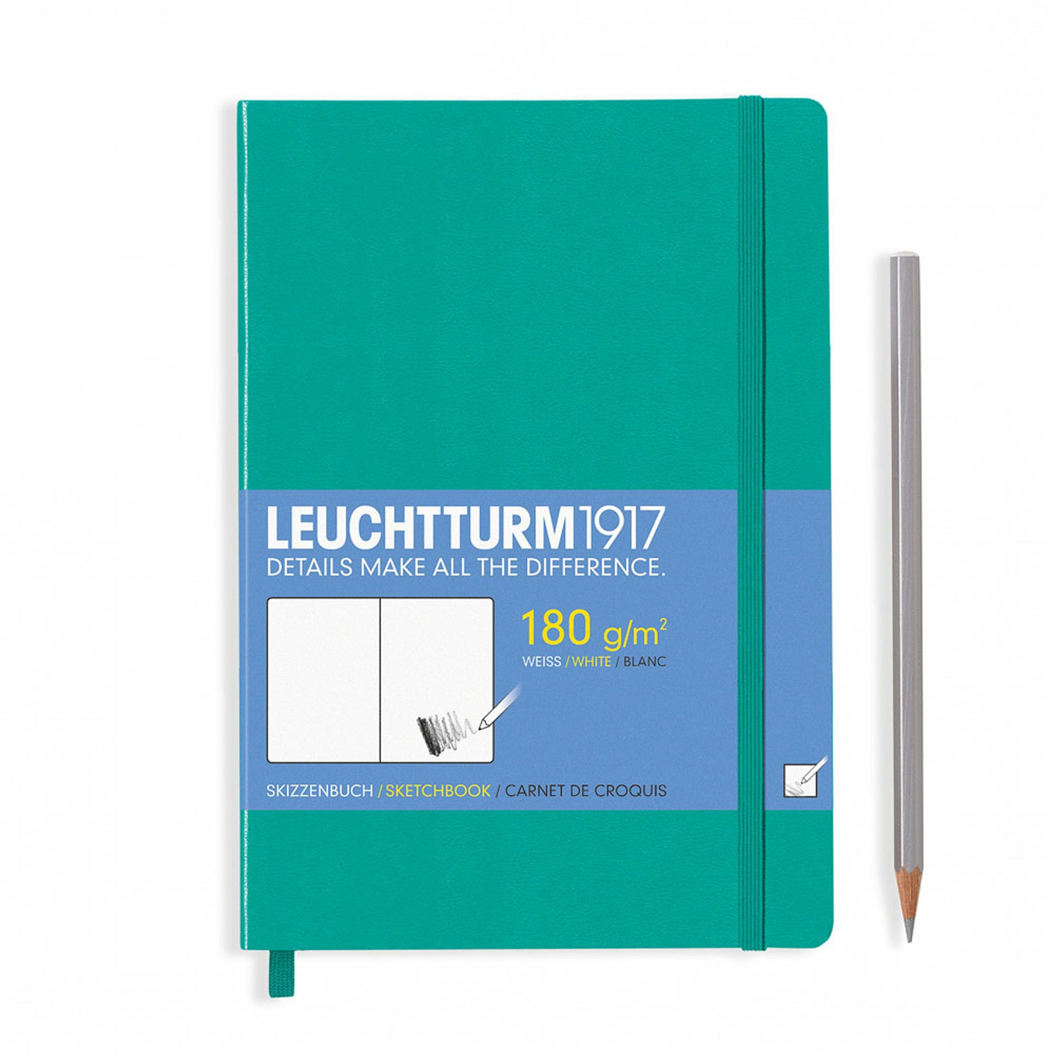 Leuchtturm1917 Hardcover A5 Medium Sketchbook Emerald