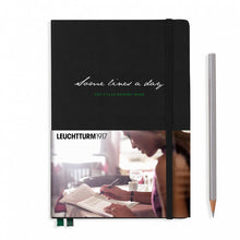 Load image into Gallery viewer, Leuchtturm1917 Some Lines A Day A5 Medium Notebook Black