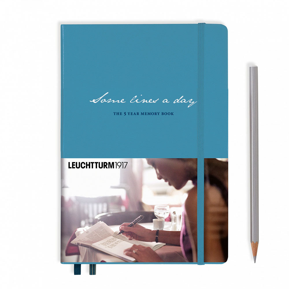 Leuchtturm1917 Some Lines A Day A5 Medium Notebook Nordic Blue