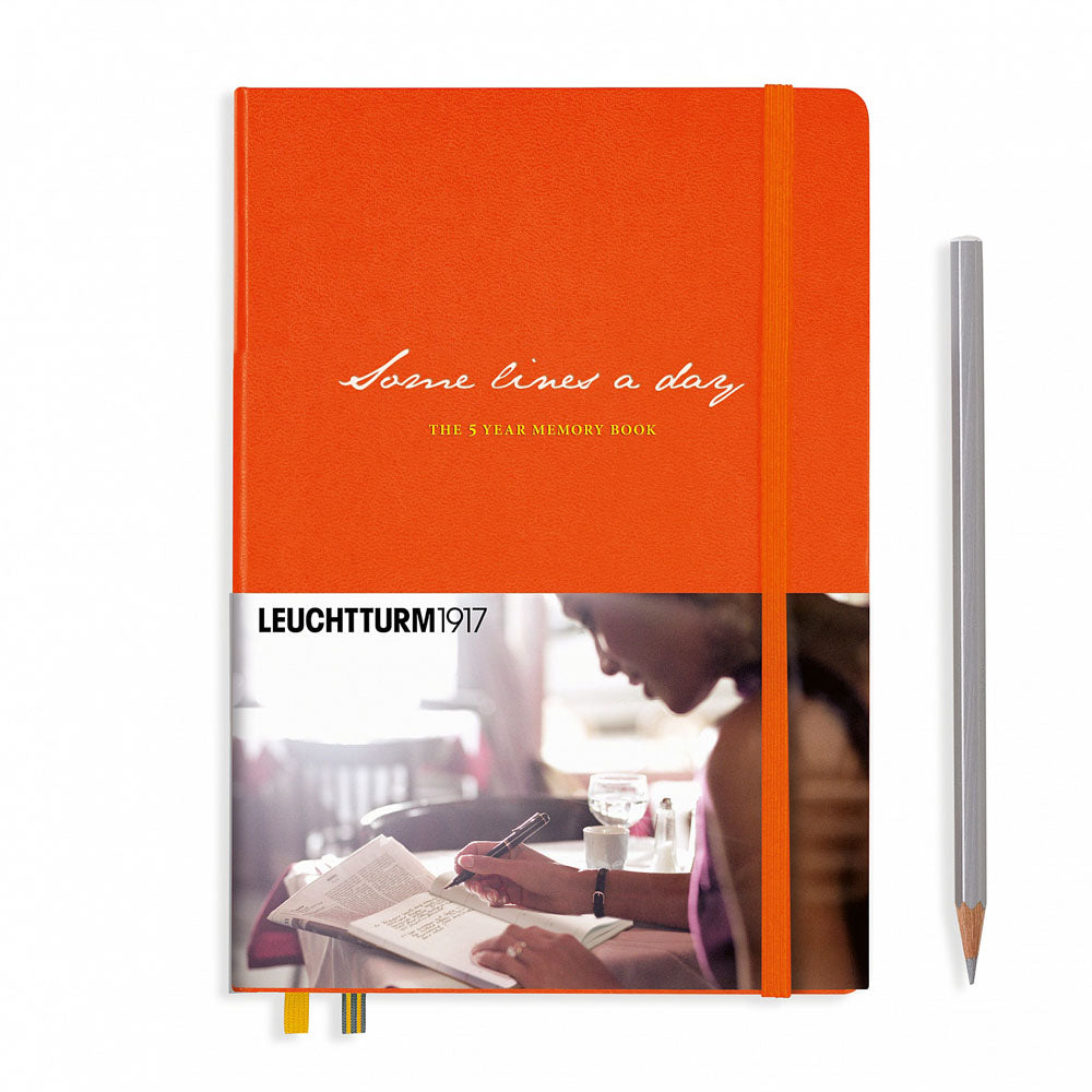 Leuchtturm1917 Some Lines A Day A5 Medium Notebook Orange