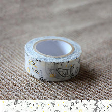 Load image into Gallery viewer, Classiky x Tomomi Irago Starlit Sky Black Washi Tape - Cityluxe