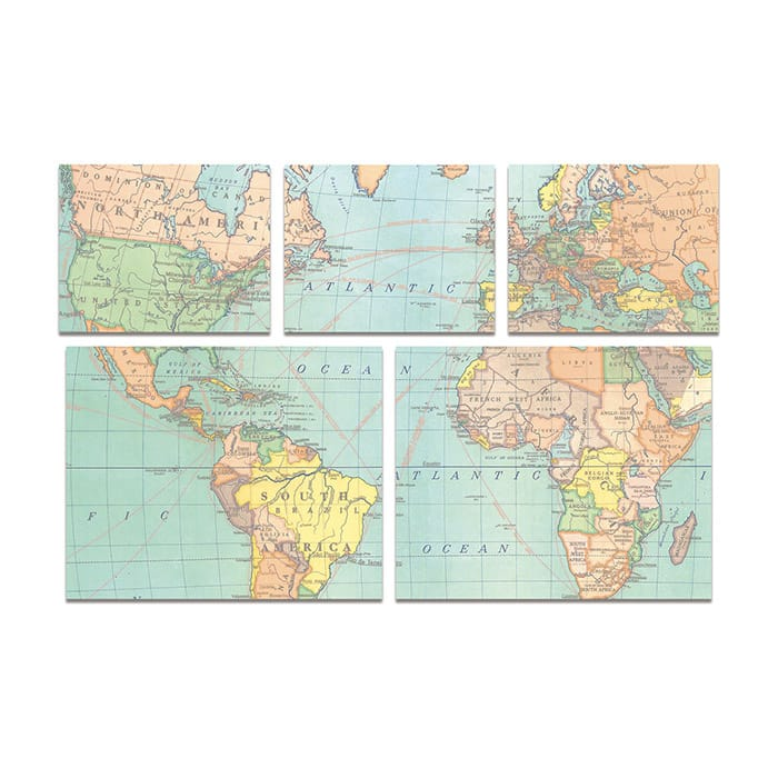 Cavallini Sticky Notes Map
