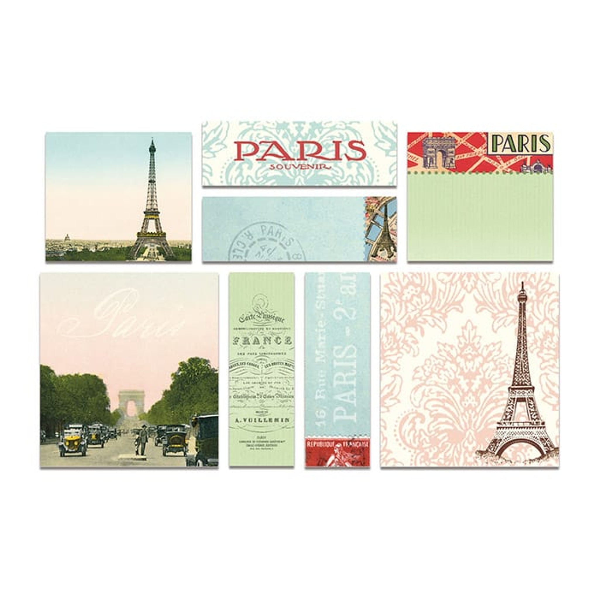 Cavallini Sticky Notes Paris