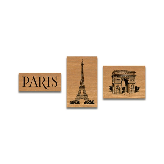 Cavallini Rubber Stamp In Tin Paris