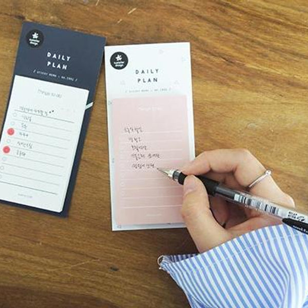 Suatelier Daily Plan Sticky Memo Pink