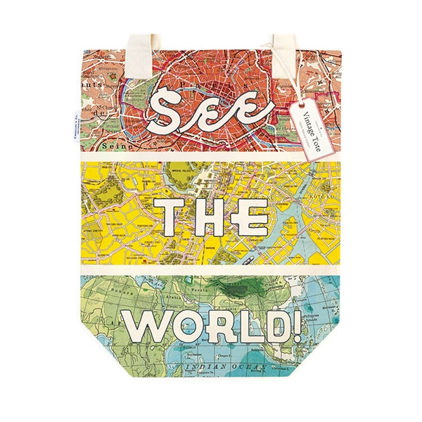 Cavallini Tote Bag - See The World