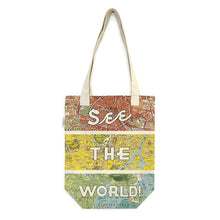 Load image into Gallery viewer, Cavallini Tote Bag - See The World