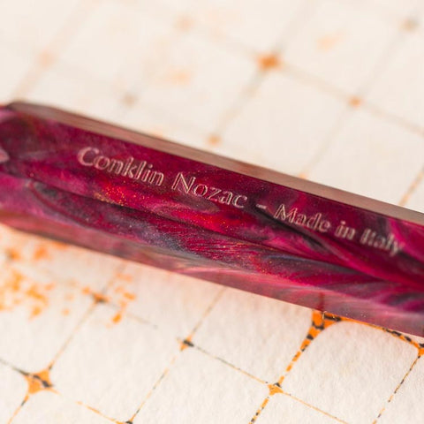 Conklin Nozac Piston Fountain Pen Toledo Red - Cityluxe
