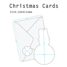 Load image into Gallery viewer, D'Won 3D Pop Up Card Card Deco Snowman