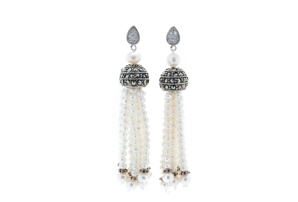 Fresh Water Sea Pearls with Marcasite